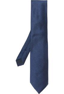 Tom Ford Gravata De Seda Com Textura - Azul