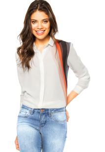 Camisa Manga Longa Calvin Klein Jeans Listras Branca