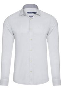 Camisa Masculina Denim Ft Estampado - Branco