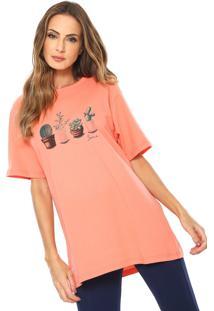 Camiseta Scene Estampada Coral