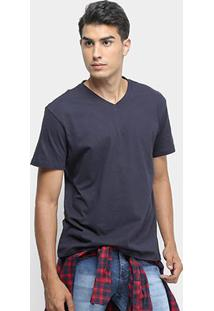 Camiseta Reserva Básica V - Masculino-Marinho