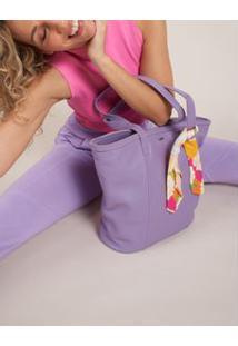 Bolsa Tote Lenço Floral - Violeta U