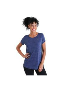Camiseta Feminina Levíssima Energy - Azul Marinho - Líquido