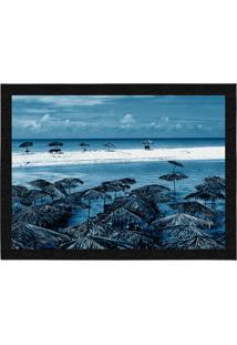 Capacho - Tapete Colours Creative Photo Decor - Praia Azul Azul