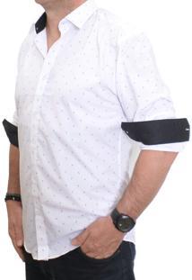 Camisa Tuliska Vivacci Slim Fit Branca