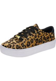 Tênis Slip On Animal Print 111.29.025 - Bege