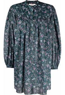 Isabel Marant Étoile Button-Front Cotton Mini Dress - Verde