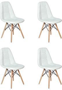 Cadeira E Banco De Jantar Impã©Rio Brazil Boton㪠- Branco/Incolor - Dafiti