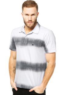 Camisa Polo Hurley Block Party Tie Dye Branca