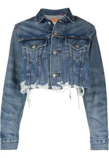 Denimist Cropped Distressed Effect Jacket - Azul