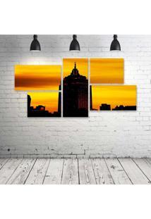 Quadro Decorativo - New-York - Composto De 5 Quadros - Multicolorido - Dafiti
