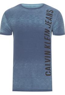Camiseta Masculina Logo Horizontal - Azul