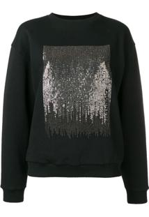 Givenchy Suéter Com Paetês - Preto