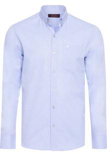 Camisa Masculina Oxford - Azul
