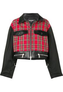 Dsquared2 Contrast Panels Cropped Jacket - Preto