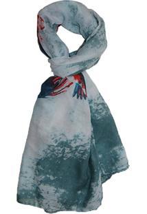 Lenço Zohar Acessórios Teresa Colorida Azul
