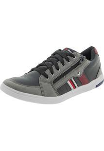 Sapatênis Masculino Preto/Cinza Ped Shoes - 61000