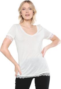 Blusa Ana Hickmann Renda Off-White
