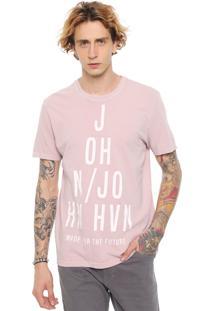 Camiseta John John Triangle Rosa