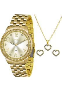 Kit Relógio Feminina Lince Lrg4370L K168C2Kx