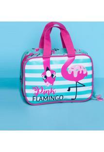 Necessaire Maleta Flamingo Puket Verde Agua 050401411 - Tricae