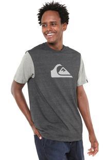 Camiseta Quiksilver M&W Bicolor Grafite