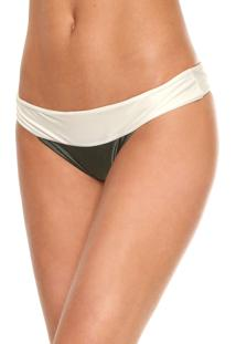 Calcinha Salinas Tanga Miracle Off-White/Verde