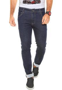 Calça Jeans Be Red Skinny Pesponto Azul
