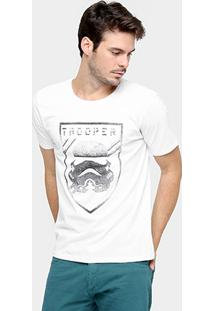 Camiseta Disney Star Wars Trooper - Masculino-Branco