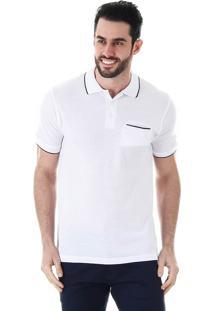 Camisa Polo Masculina Broken Rules - Branco