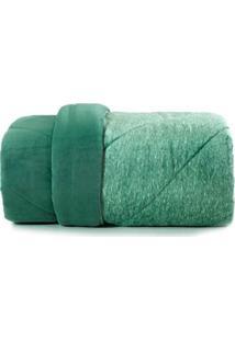 Cobertor Casal Altenburg Verde/Branco