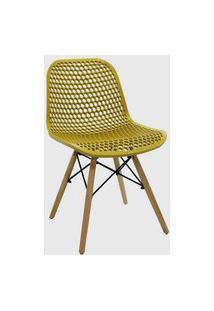 Cadeira Eloisa Amarelo Ocre Conjunto 02 Rivatti