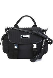 Bolsa Santa Lolla Handbag Nylon Feminina - Feminino-Preto
