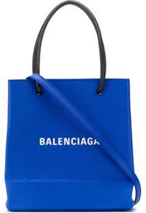 Balenciaga Bolsa Tote Mini - Azul