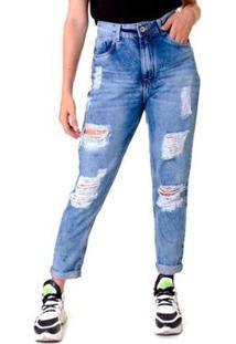 Calça Jeans Opera Rock Feminina - Feminino