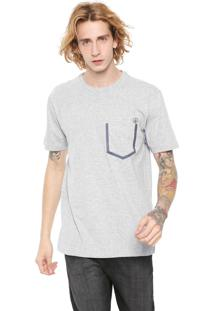 Camiseta Volcom Heather Pocket Cinza