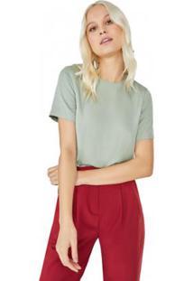 Camiseta Amaro Tencel Básica Feminina - Feminino
