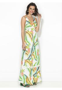 Vestido Cropped Floresta Tropical Estampado