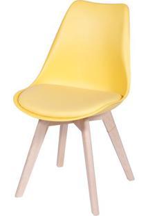 Cadeira Modesti- Amarela & Bege- 83X49X42,5Cm- Oor Design