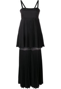 Atu Body Couture Vestido Nightfall Com Pregas - Preto