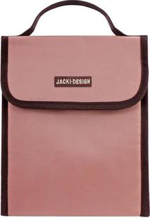 Bolsa Térmica Com Velcro- Rosa Claro & Marrom Escurojacki Design