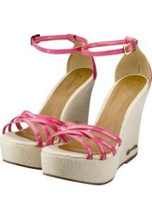 Sandália Barth Shoes Estrela Verniz Feminina - Feminino-Pink
