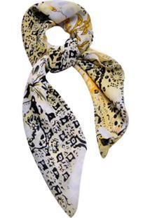 Lenço Smm Acessórios Arabesco Floral Amarelo