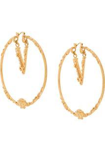 Versace Par De Brincos - Dourado