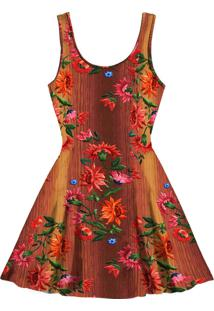 Vestido Evasê Estampado Souk - Lez A Lez