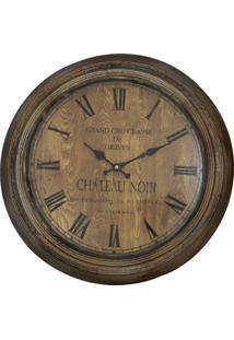 Relógio Kasa Ideia De Parede Château Noir 62Cm