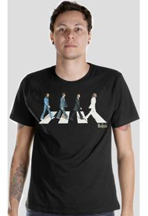 Camiseta Bandup! The Beatles Abbey - Masculino-Preto