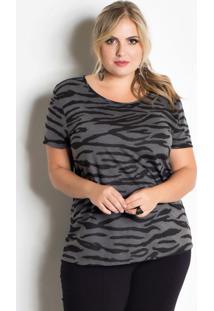 T-Shirt Zebra Animal Print Plus Size Marguerite
