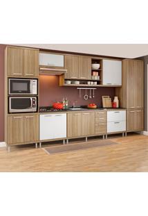 Cozinha Completa Sem Tampo 17 Portas 5832 Argila/Branco - Multimóveis