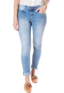 Calça Jeans Feminina Max Denim Azul Claro - 38